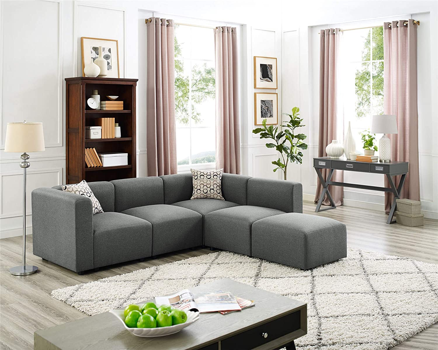 Amazon.com: 3 Seat Couches with Ottoman, Left Right Hand L-Shape ...