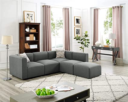 Amazon.com: 3 Seat Couches with Ottoman, Left Right Hand L ...
