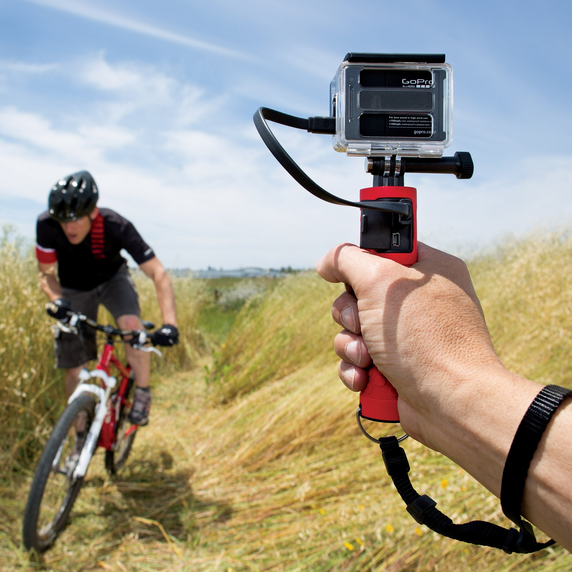 JOBY Action Battery Grip- Portable Battery Charger and Hand Grip for GoPro and Action Video Cameras.