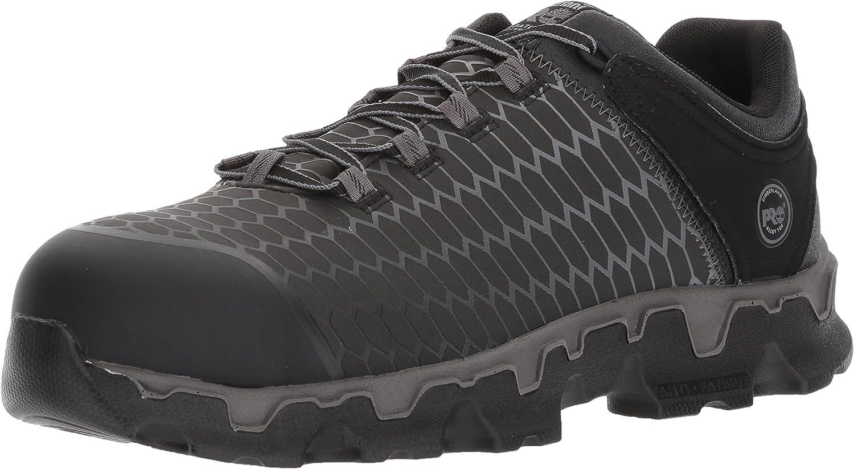 Timberland PRO Men's Powertrain Sport Alloy Toe EH Synthetic Industrial & Construction Shoe, Black Raptek, 9: Shoes