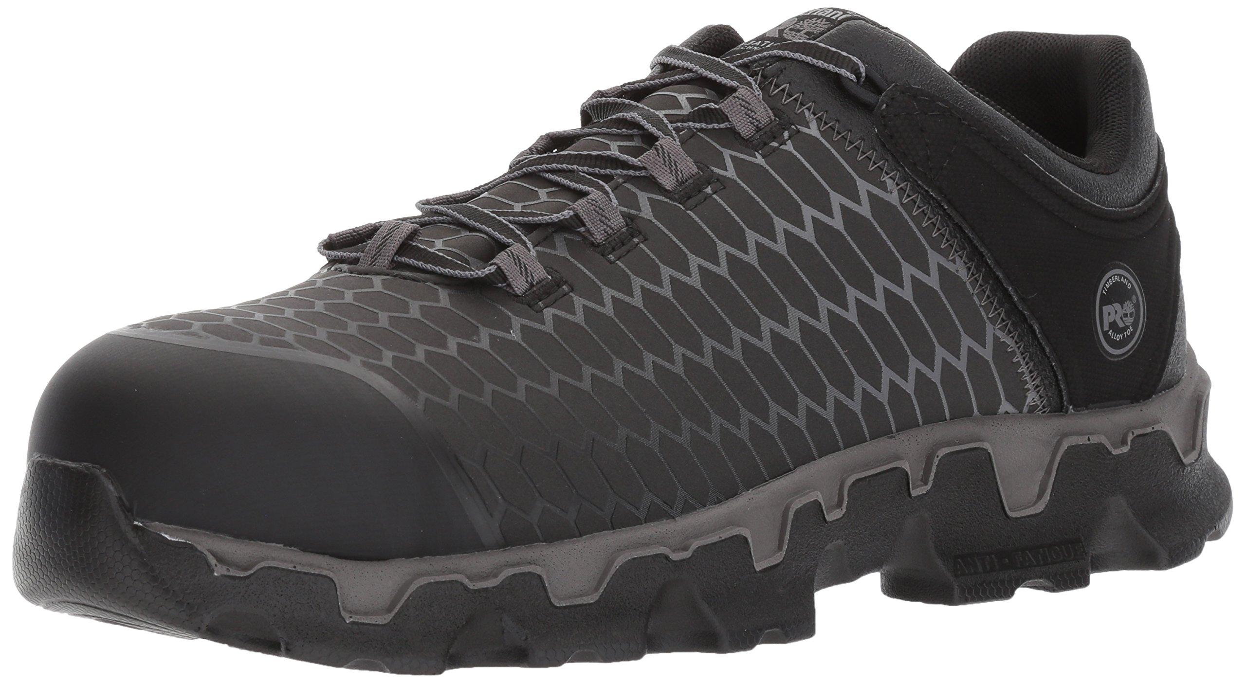 Timberland PRO Men's Powertrain Sport Raptek Alloy Toe EH Industrial and Construction Shoe, Black Raptek, 10.5 M US