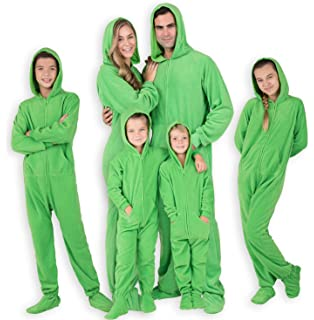 c798c101609a Amazon.com  Footed Pajamas - Emerald Green Toddler Hoodie Fleece ...