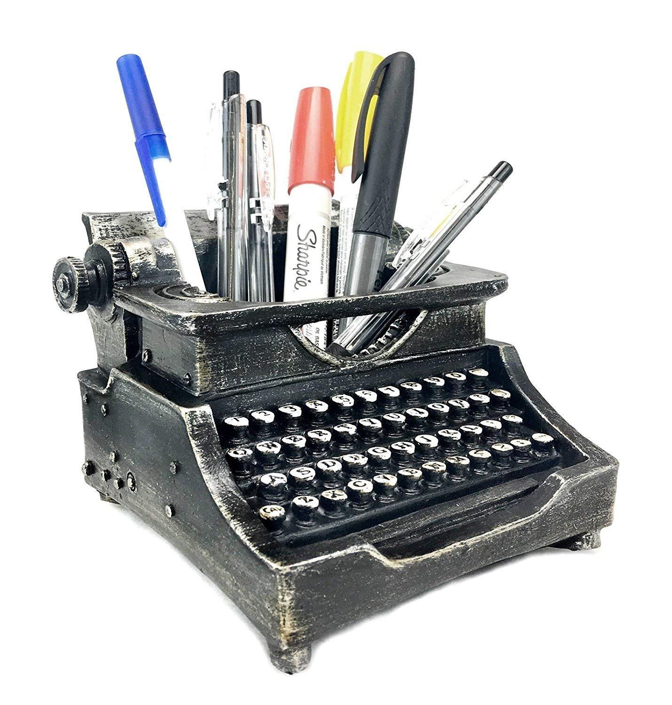 Bellaa 21413 Typewriter Pencil Holder for Desk And Desk Organizer for Writer's Desk 5 Inch