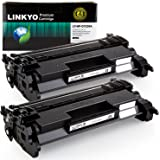 LINKYO Replacement Toner Cartridges for HP 26A CF226A (Black, 2-Pack)