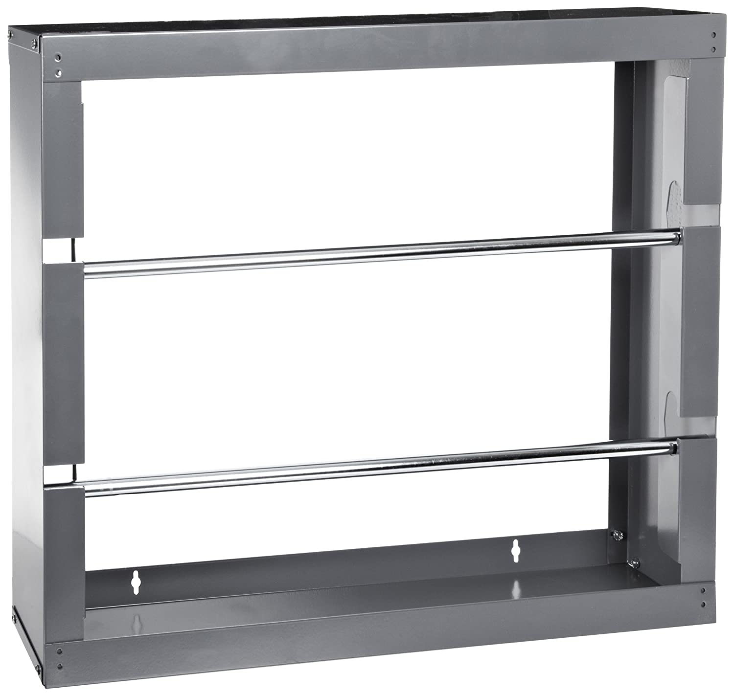 26-1//8 W x 17-7//8 H x 6 Depth Durham 384-95 Gray Cold-Rolled Steel Wire Spool Rack with 2 Rods