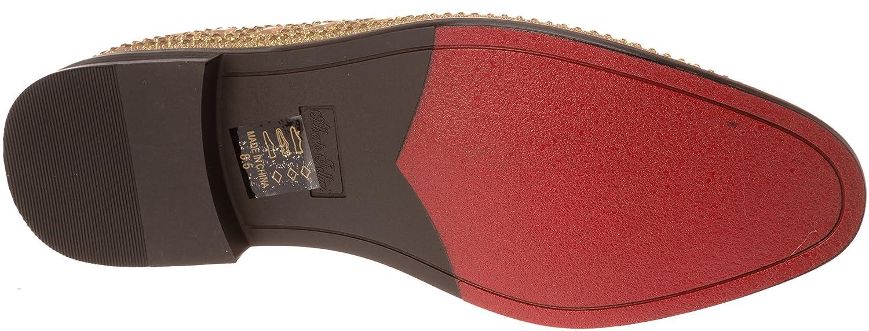 sparko11 Mens Slip-On Fashion-Loafer Sparkling-Glitter Dress-Shoes