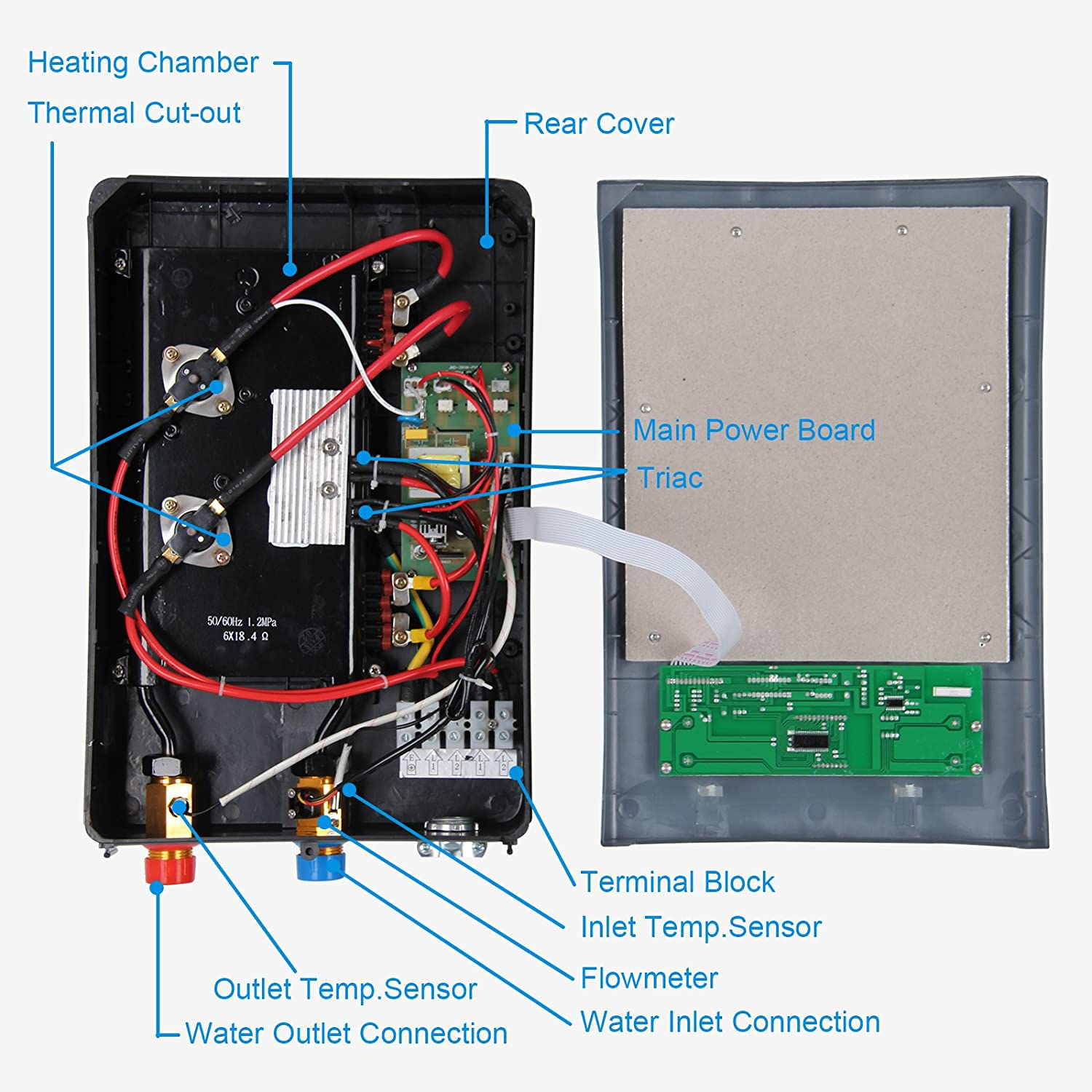 Diagram Eemax Wiring Eem24013 Data Schema Triac 0 Point Switch Circuit Electronic Diagrams Electric Tankless Water Heater 18 Kw At 240 Volts 75 Amps Instant Smart Car