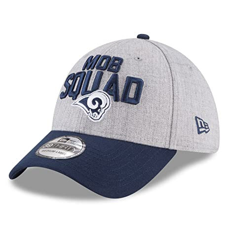 6762b401a10763 New Era Los Angeles Rams 2018 NFL Draft Official On-Stage 39THIRTY Flex Hat  –