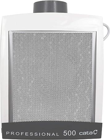 Cata Professional 500 - Extractor de Humos silencioso, 125 W, 57 Decibelios, Plástico y Rejilla de Aluminio, Blanco: Amazon.es: Grandes electrodomésticos
