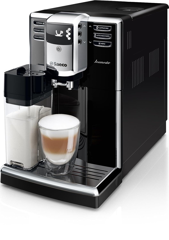Saeco Incanto HD8916/01, Macchina da Caffè Automatica, con Macine in Ceramica, Filtro Aquaclean, Caraffa Latte Integrata Macchina da Caffè Automatica