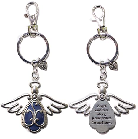 Memorial Keychain Watching From Heaven Guardian Angel Wing Keychain