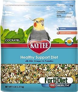 Kaytee Forti-Diet Pro Health Cockatiel Food with Safflower