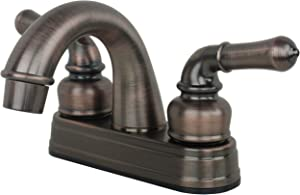 Laguna Brass 2001BZ RV Mobile Home Non-Metallic Centerset Lavatory Faucet, Brushed Bronze Finish