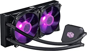 Cooler Master MasterLiquid LC240E RGB All-in-one CPU Liquid Cooler with Dual Chamber Pump Latest Intel/AMD Support (MLA-D24M-A18PC-R1) (Renewed)