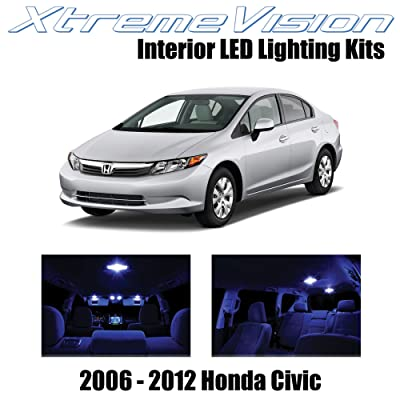 Xtremevision Interior LED for Honda Civic 2006-2012 (10 Pieces) Blue Interior LED Kit + Installation Tool: Automotive