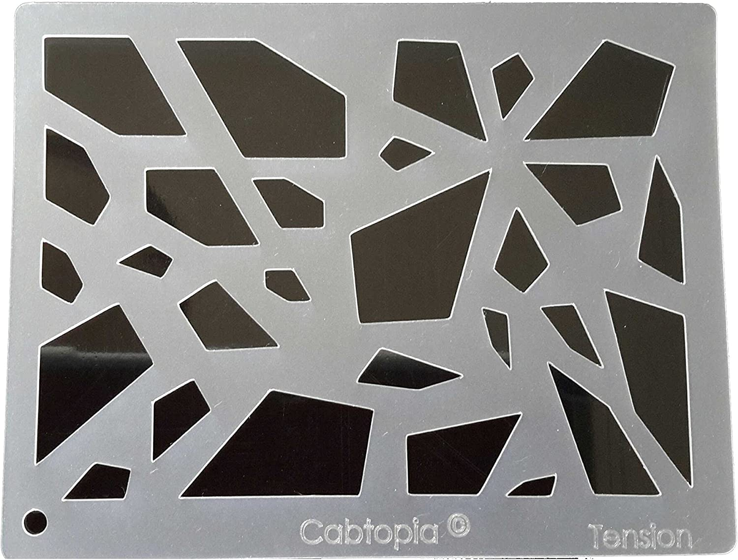 Cabtopia Lapidary Jewelry Design Template Stencil Morphed