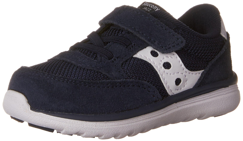 Saucony Baby Jazz Lite Sneaker (Toddler/Little Kid/Big Kid), Navy/White, 10 W US Toddler