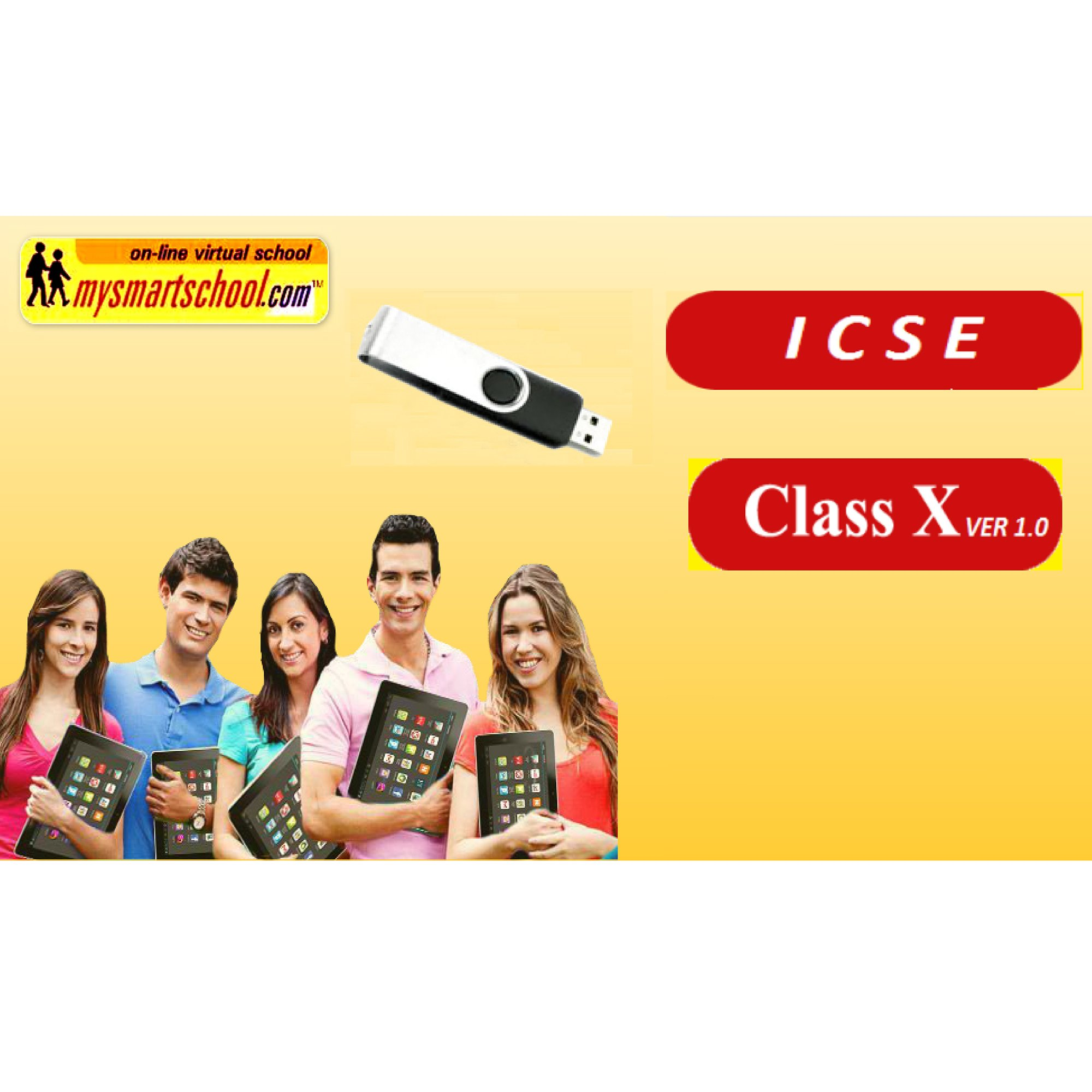 Class X ICSE USB Pendrive Course Ver1.0 (English Physics Chemistry Biology) all Lessons are Interactive Multimedia Video Lessons with multiple Questions on the Basis of ICSE Evaluation Blue Print by mysmartschool