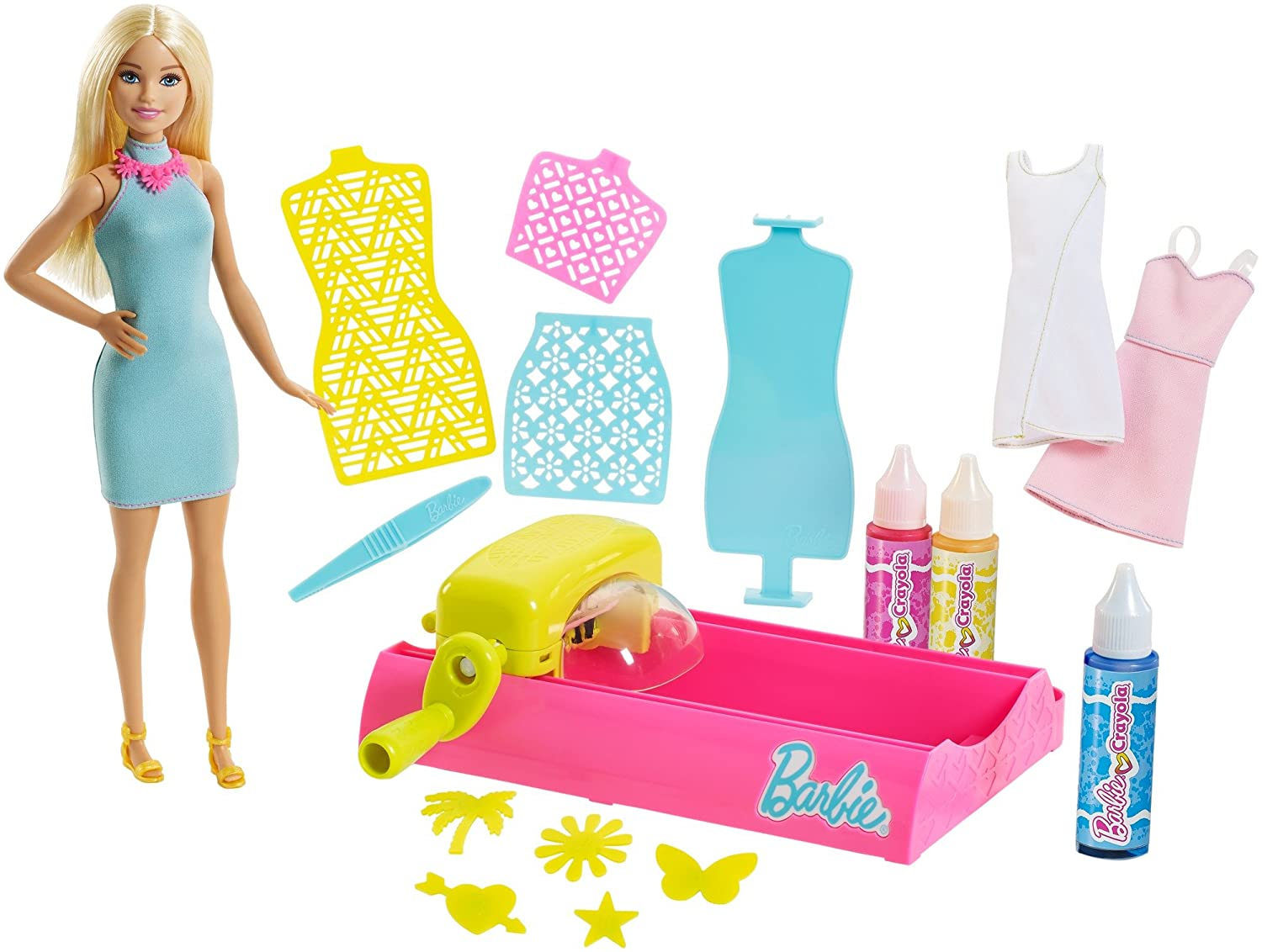 Barbie FPW10 Crayola Colour Magic Station Doll & Playset, Multi