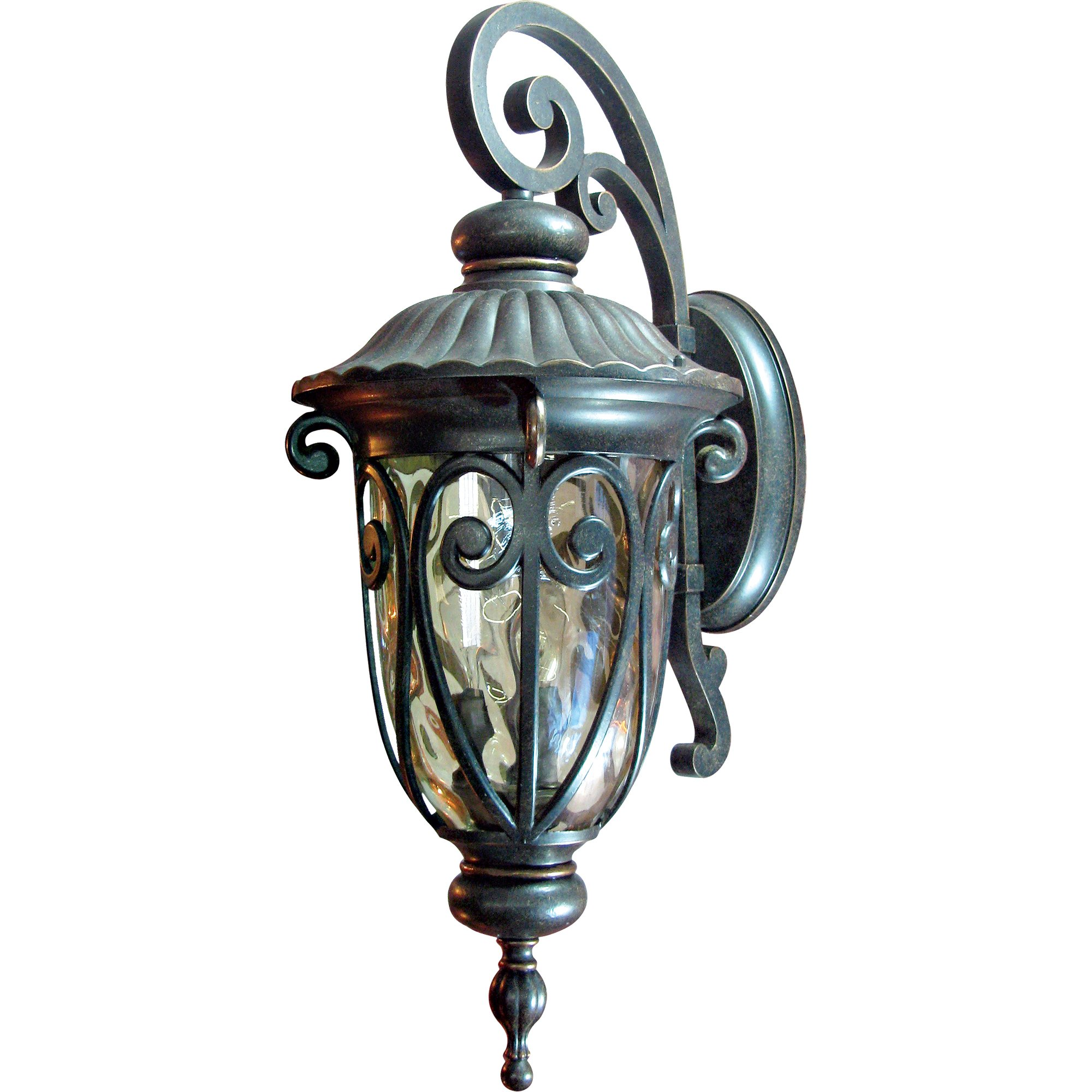 Yosemite Home Decor 519LDIORB Viviana 1-Light Wall Sconce with Gold Stone Glass