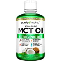 Purely Inspired 100% Pure MCT Oil, Sourced from Coconut, Supports Keto & Paleo Diets, Non-GMO, Gluten Free, Unflavored, 31 Servings (16oz)