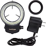 AmScope LED-144B-ZK Black 144 PCS Adjustable LED Ring Light for Stereo Microscope & Camera, with Power Adapter