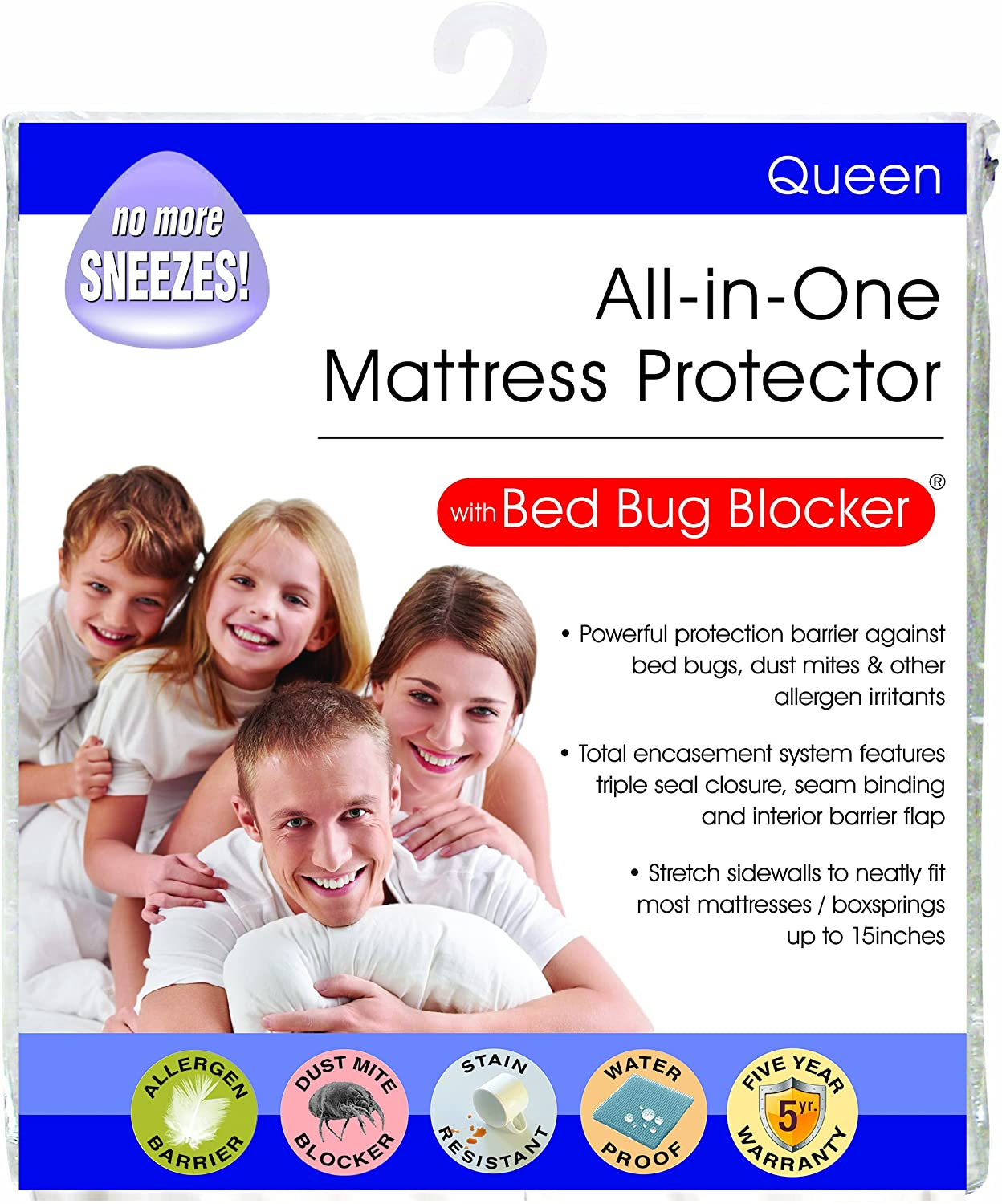 Bed Bug Blocker Hypoallergenic All In One Breathable Twin Box Spring Cover Encasement Protector Zippered Water Resistant Dust Mite Allergens Insects