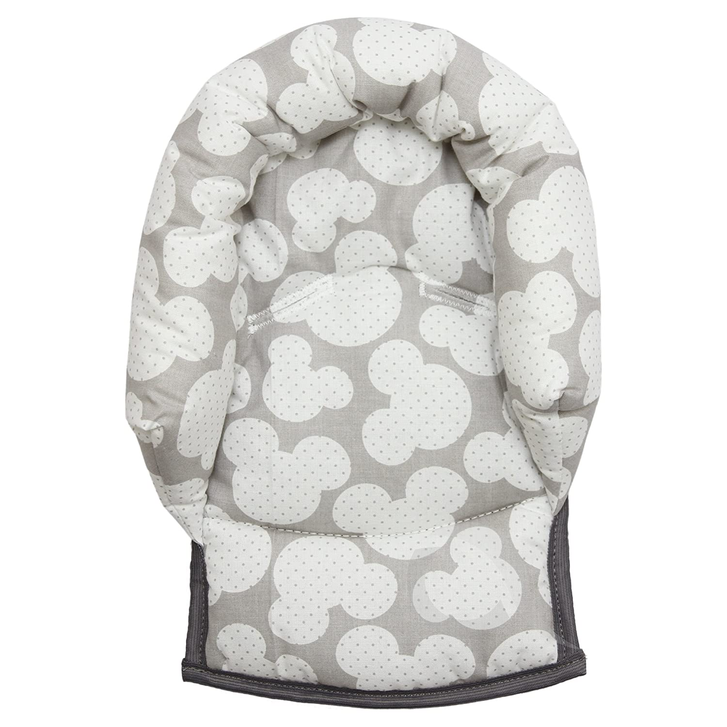 BABY BUTTERFLY SUPPORT PILLOW ANTISHAKE HEAD SUPPORT FOR CAR SEAT STROLLER Grey - small grey stars on white