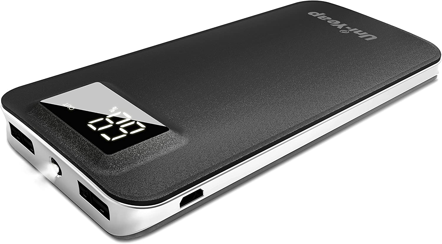 Uni-Yeap 11000mAh External Battery Charger Power Bank with Safety Charging Conversion System and Ultra Slim with Screen for iPhoneXs Xr X 8 7 6s 6, iPad, Samsung Galaxy and All Smart Phone(Black)