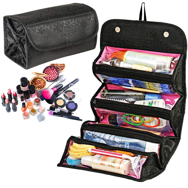 Amazon.com: Organizador enrollable de viaje para cosméticos ...