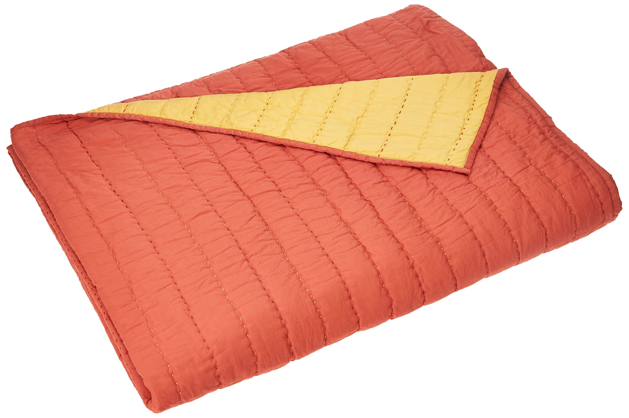 Rizzy Home Gracie Coral Queen Quilt, Yellow