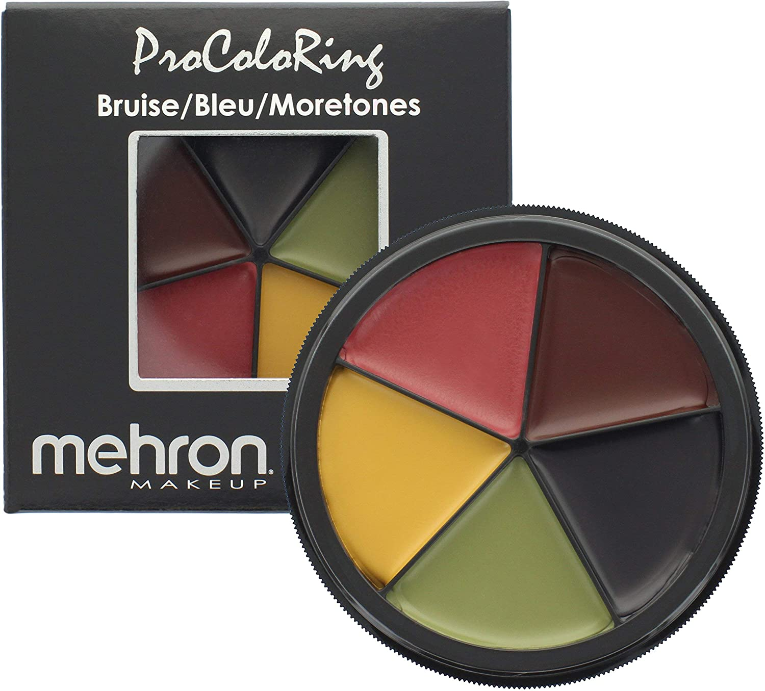 Mehron Makeup 5 Color Bruise Wheel for Special Effects, Movies, Halloween: Toys & Games