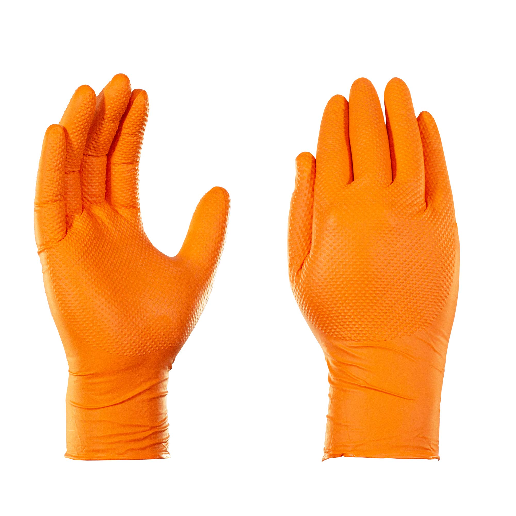 AMMEX - GWON44100 - Nitrile Gloves - Gloveworks, Heavy Duty, Disposable, Powder Free, Latex Rubber Free, 8 mil, Medium, Orange (Case of 1000) by Ammex (Image #1)