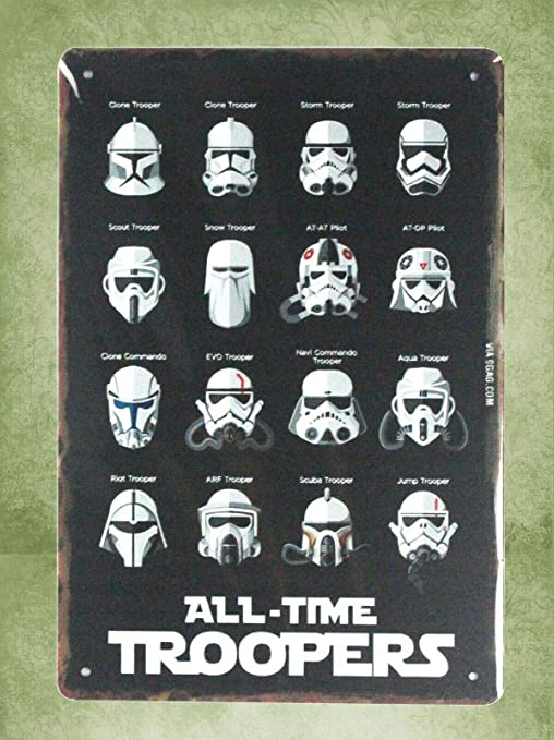 All-time troopers Star Wars tin metal sign home office design US SELLER