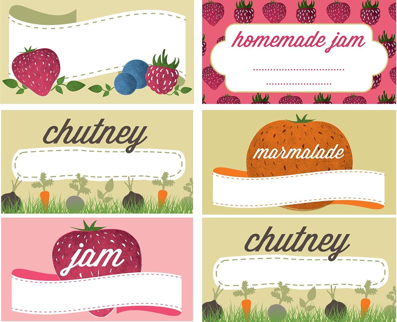 Jam e riserva di Etichette Jar (Confezione da 144) di Nutley Nutley' s