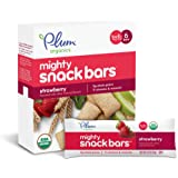 Plum Organics Mighty Snack Bars, Organic Toddler Snack, Strawberry, 0.67 Ounce Bars, 6 Count (Pack of 8)