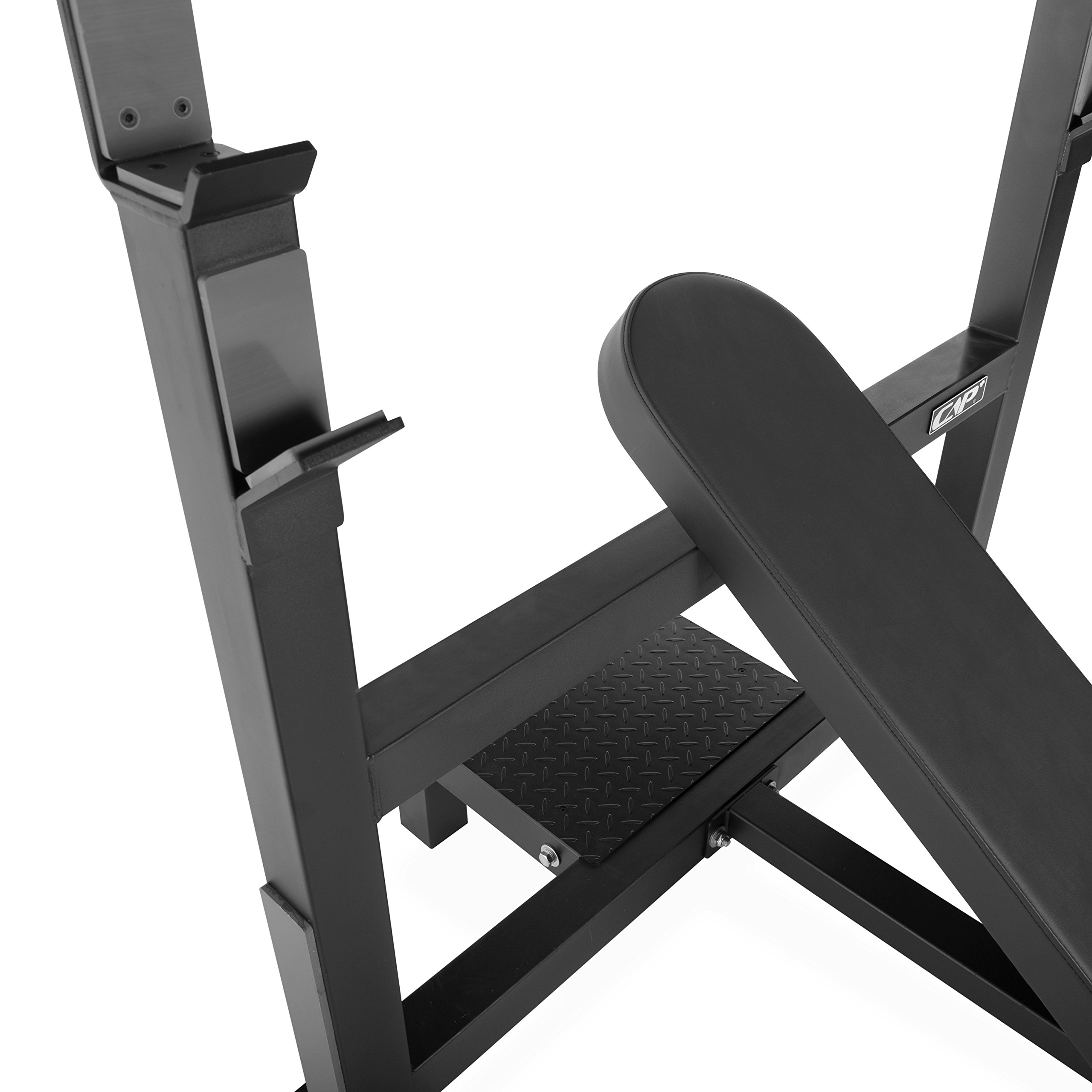 CAP Barbell 300-Pound Black Olympic Grip Set with Olympic Incline Bench by CAP Barbell (Image #4)