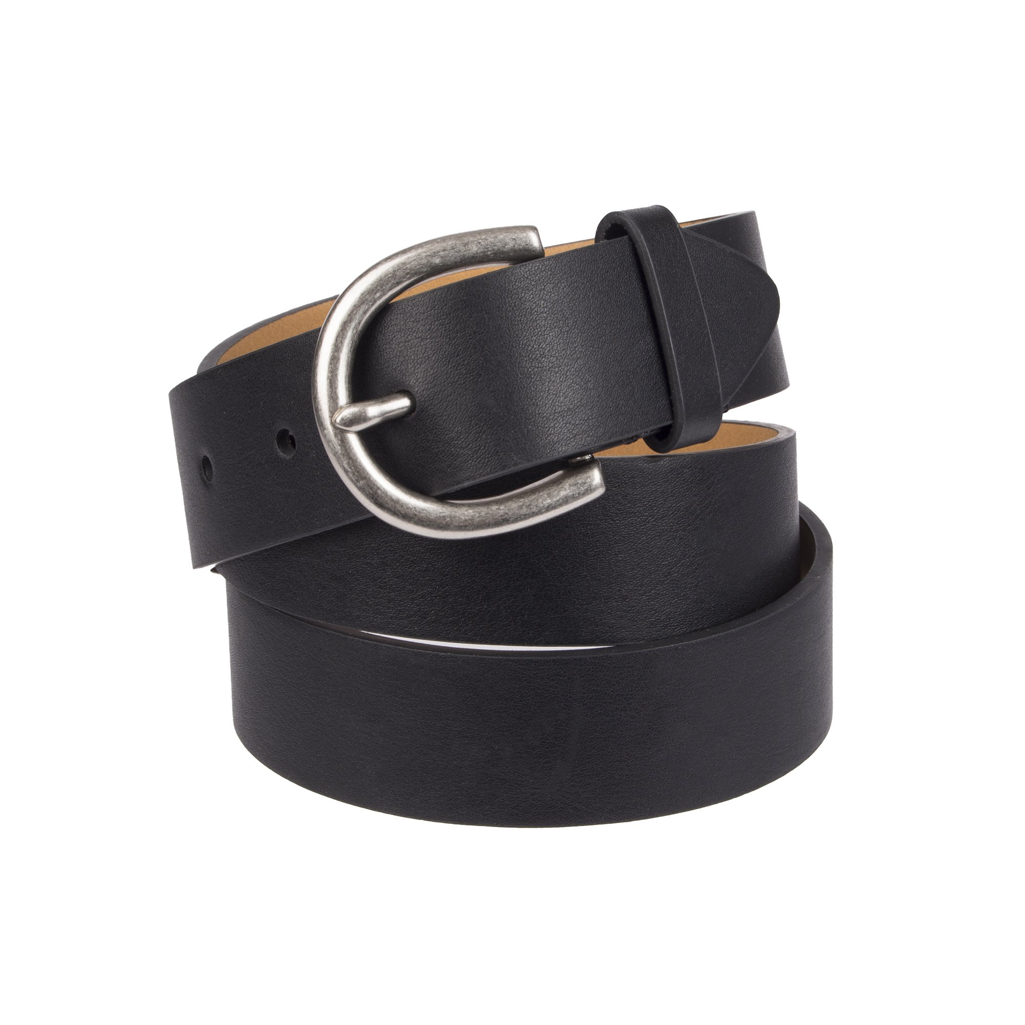 Chaps Women's Plus Size Skinny Jean Belt, black casual 2X