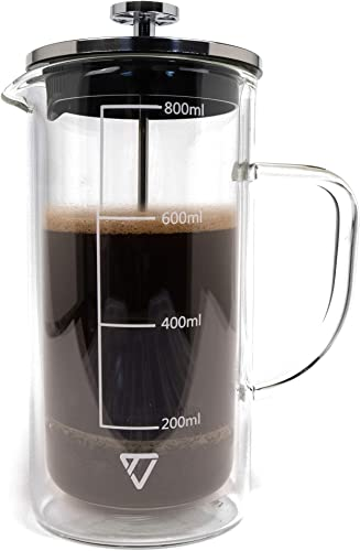 TechLead French Press coffee maker Double Wall Gla