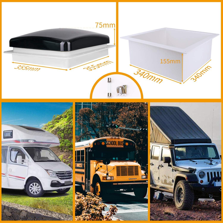 Ventilation RV Roof Vent Fan Camper Skylights Ventilation Cover ...