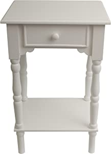 Décor Therapy End Table, White