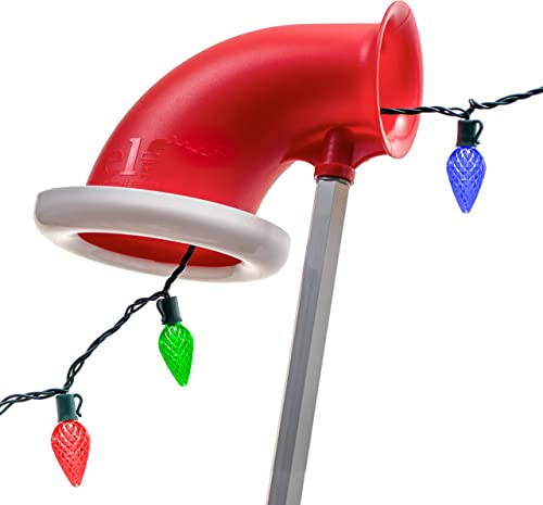 Elf Easy Light Feeder Upgrade Your Extension Light Hanging Pole to Make Hanging Christmas Lights a Breeze Works with Any Standard Extension Pole for The Ultimate Christmas Light Hanger Tool