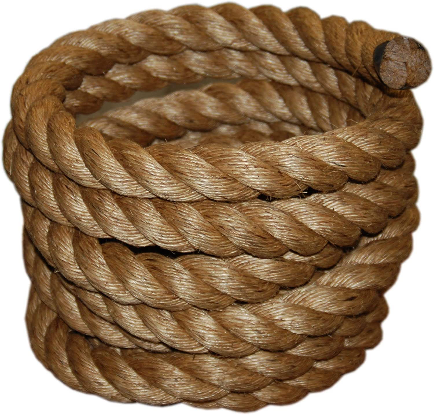 T.W Evans Cordage 30-097-50 1-1/2-Inch by 50-Feet Pure Number-1 Manila Rope