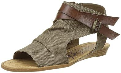 0a8d60f31de5 Unbekannt Women s Balla Open Toe Sandals Brown Size  42  Amazon.co ...
