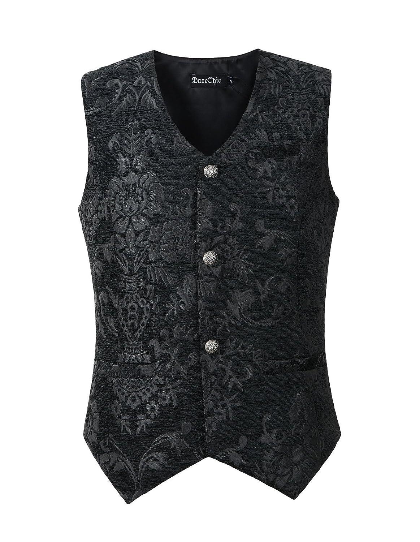 DarcChic Mens Vest Waistcoat Gothic Steampunk Victorian B01N3SDOI9