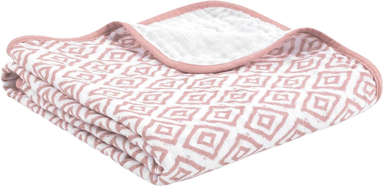 La manta para bebés de emma & noah es extra suave y acolchada, 100% algodón, tamaño 120 x 120 cm, 4 capas, perfecta como dou dou, arrullo, manta para el cochecito (Sheer Boho niña)