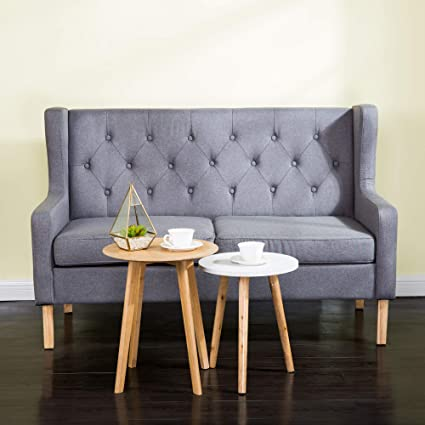 Amazing Homevibes Accent Chair 2 Seat Mid Century Modern Chair Tufted Chair Reading Chair Comfy Upholstered Leisure Sofa Loveseat Soft Arm Chair Wingback Club Caraccident5 Cool Chair Designs And Ideas Caraccident5Info