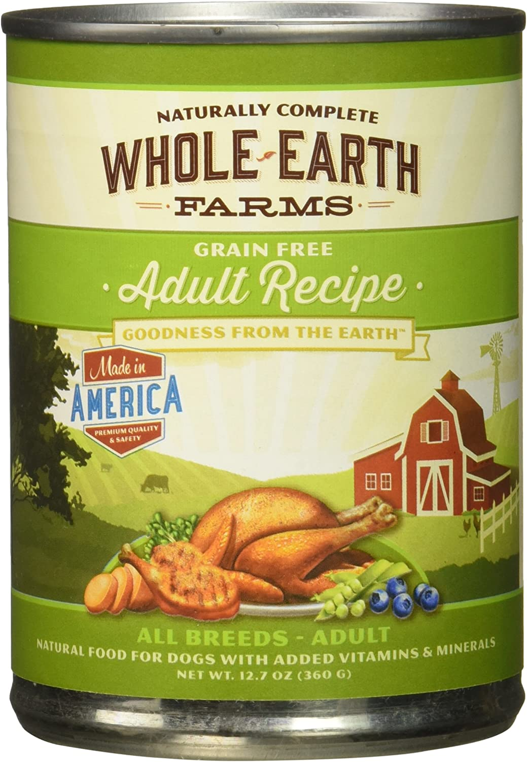 Whole Earth Farms Grain Free Canned Adult Dog Food, Case Of 12
