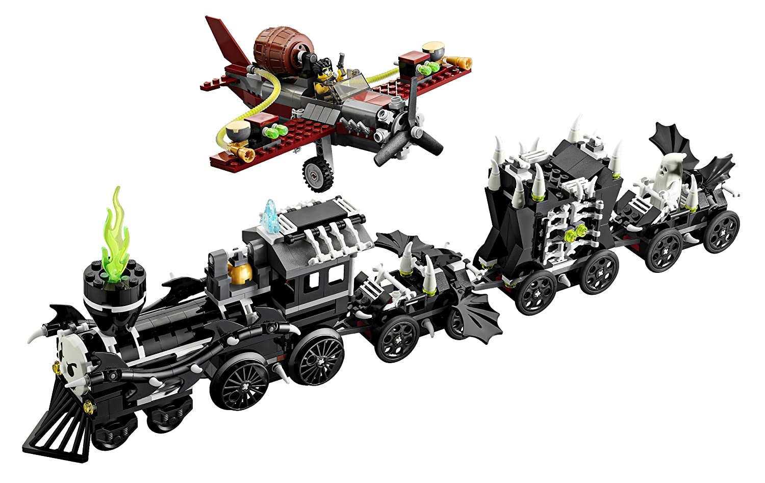 amazoncom lego monster fighters 9467 the ghost train toys games - Lego Halloween Train