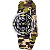 EasyRead Time Teacher Learn The Time Past/To Boys Watch Green Camo #ERW-BKG-PT-GC